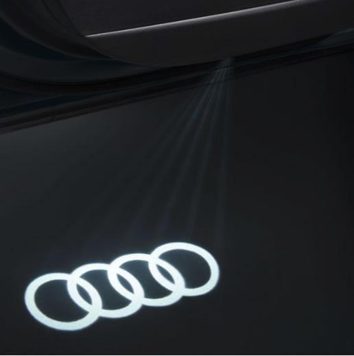 LED de acceso con anillos de Audi