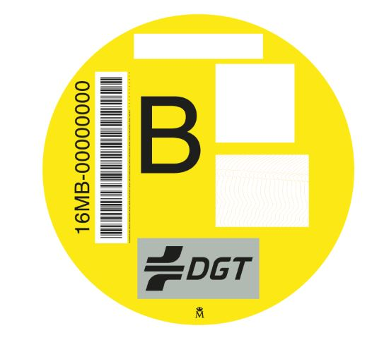 Distintivo ambiental DGT 'B'