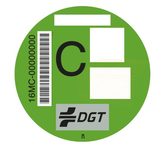 Distintivo ambiental DGT 'C'