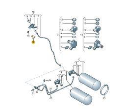 Tapón del surtidor de gas