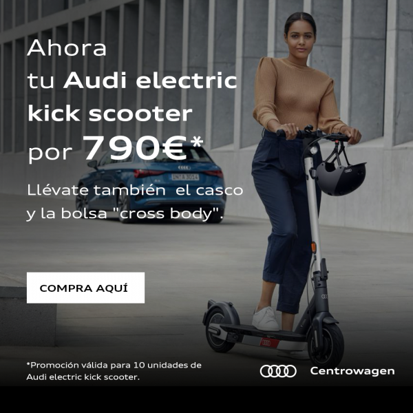 Pack Audi electric kick scooter + Casco + Bolsa
